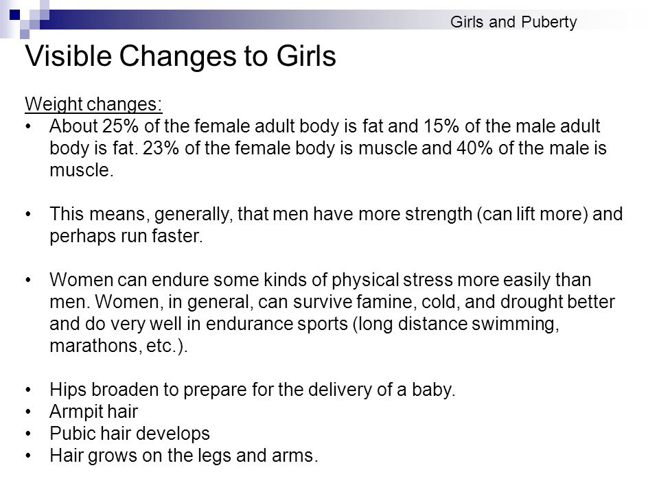 Visible Changes to Girls