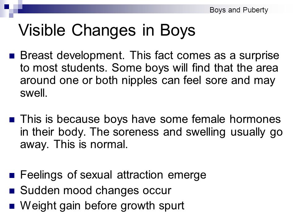 Visible Changes in Boys