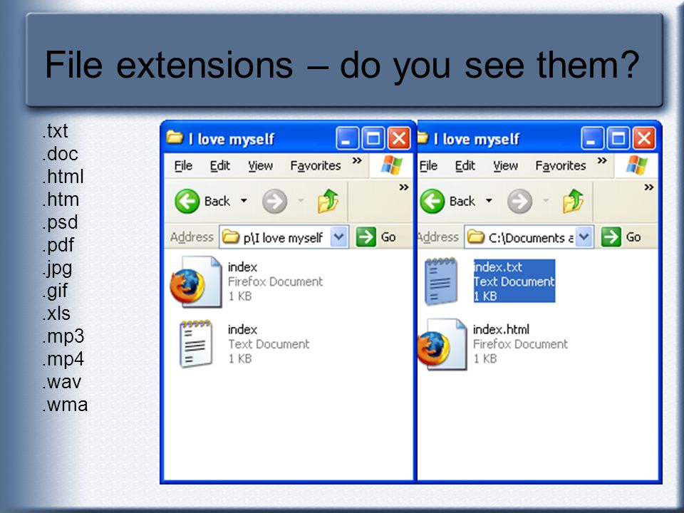 File extensions – do you see them