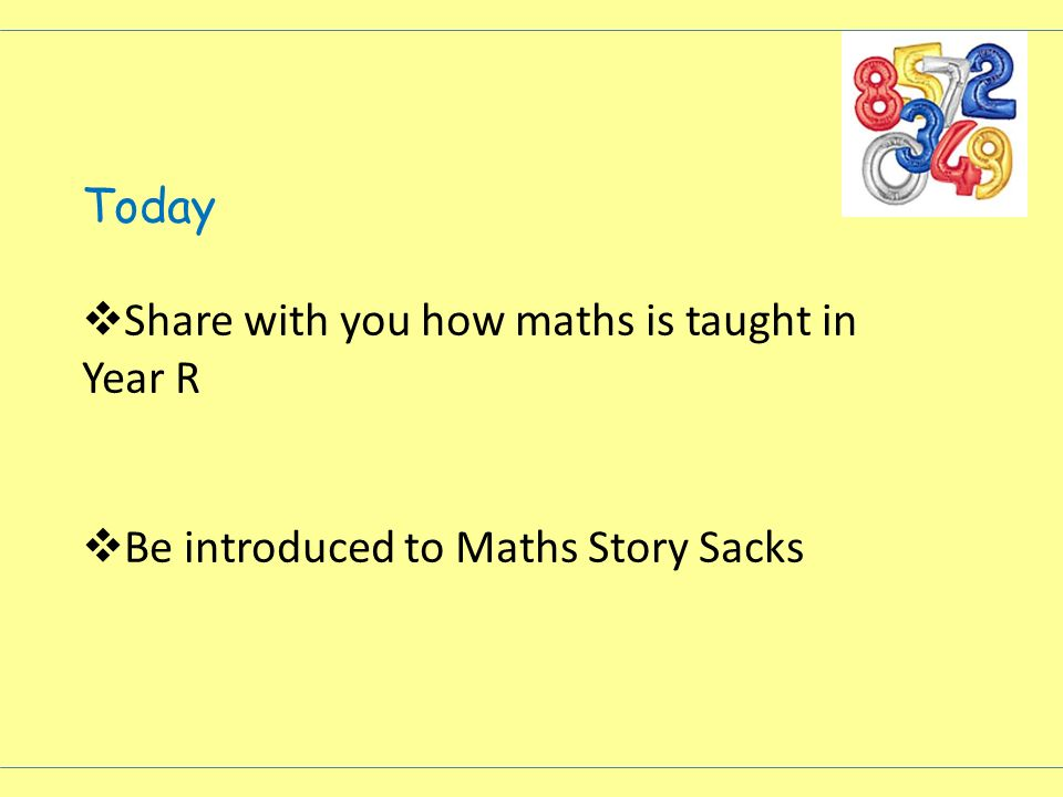 Today Share with you how maths is taught in Year R Be introduced to Maths Story Sacks