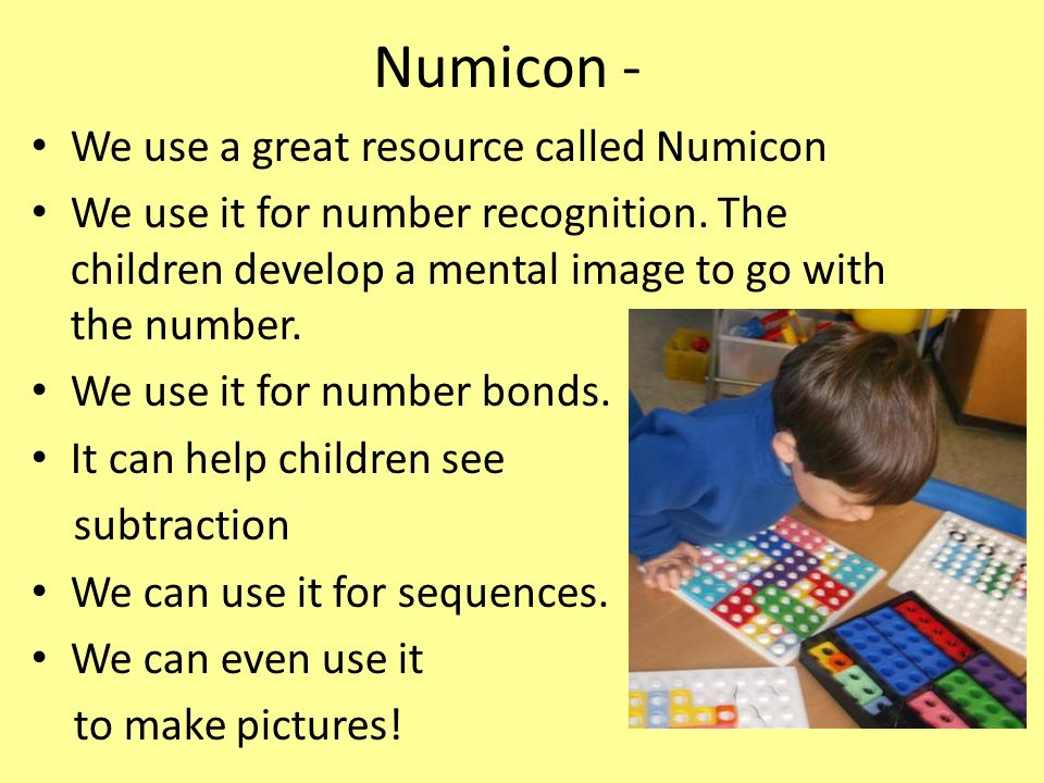 Numicon - We use a great resource called Numicon