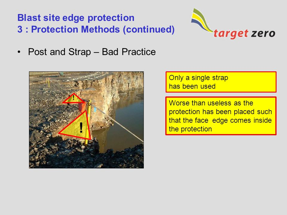 Blast site edge protection 3 : Protection Methods (continued)