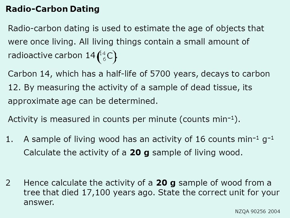 how is radioactive dating measured