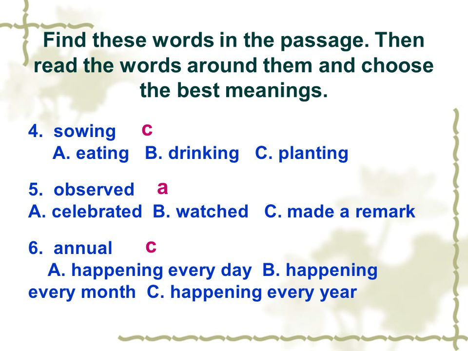 Find these words in the passage