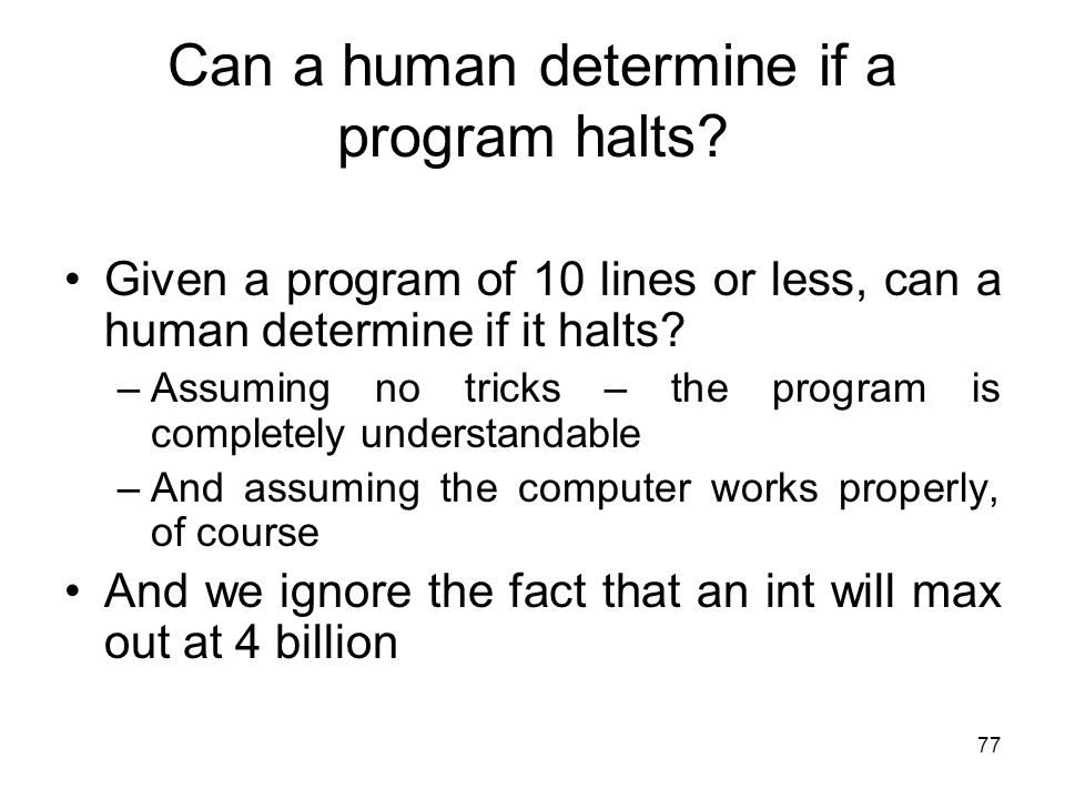 Can a human determine if a program halts