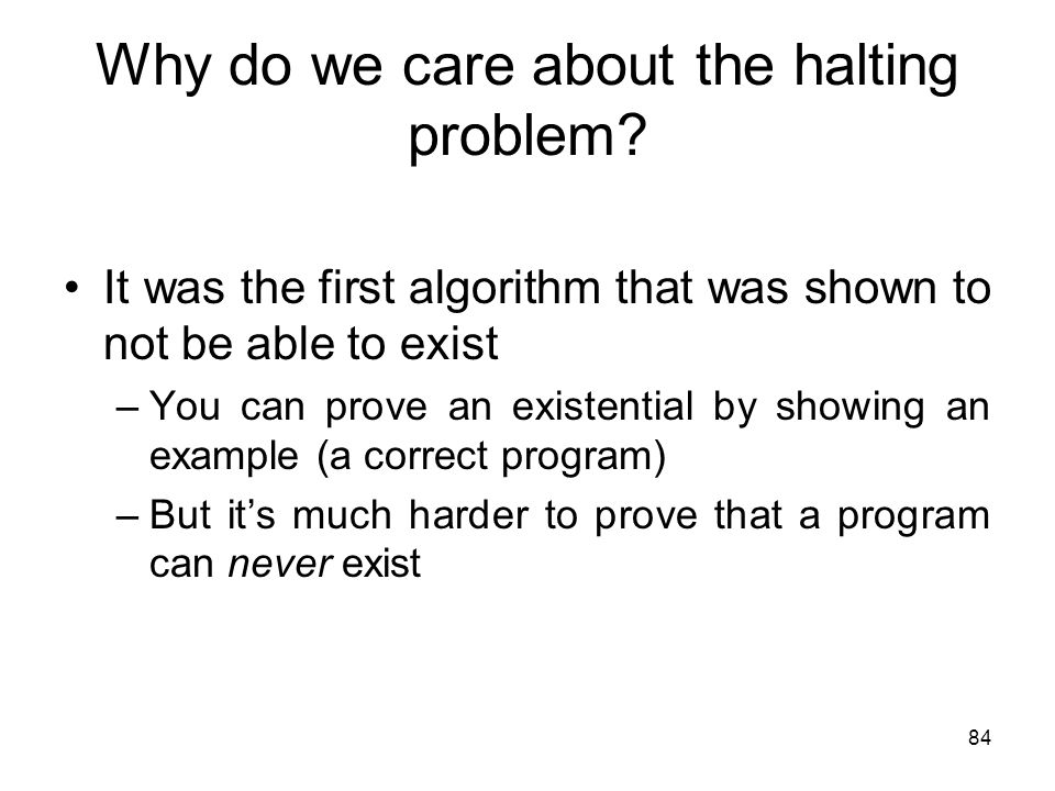 Why do we care about the halting problem