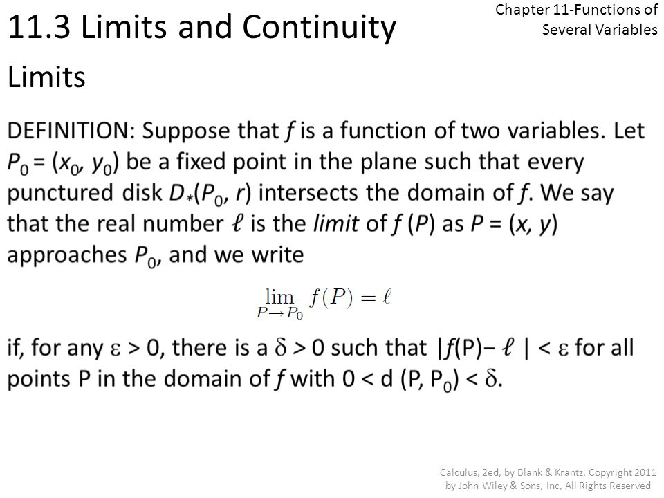 Chapter 11-Functions of Several Variables - ppt download