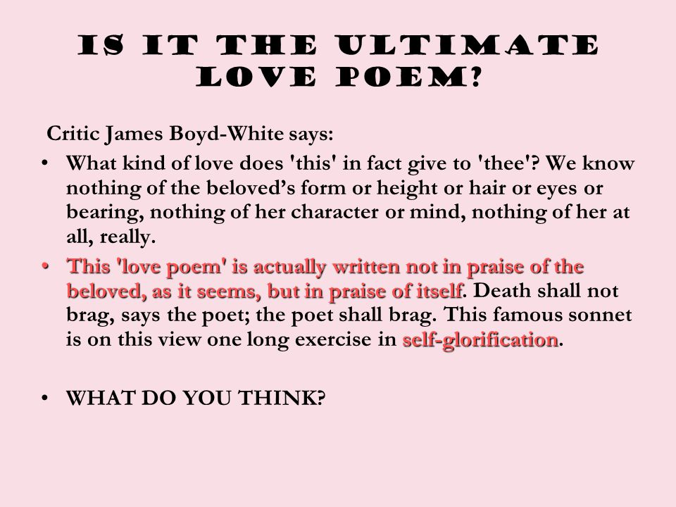 Is it the ultimate love poem