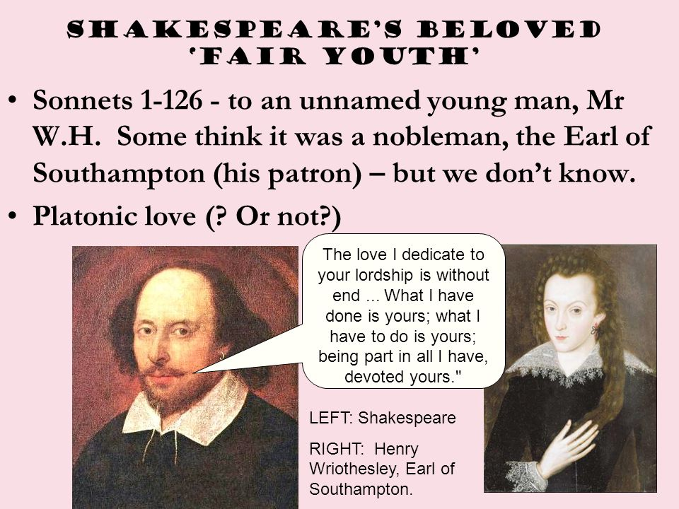 Shakespeare's BELOVED 'FAIR YOUTH'