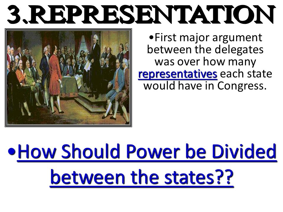 How Should Power be Divided between the states