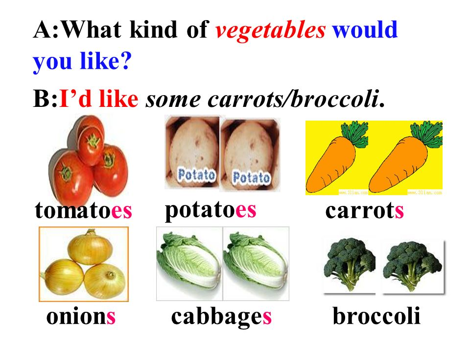 A:What kind of vegetables would you like