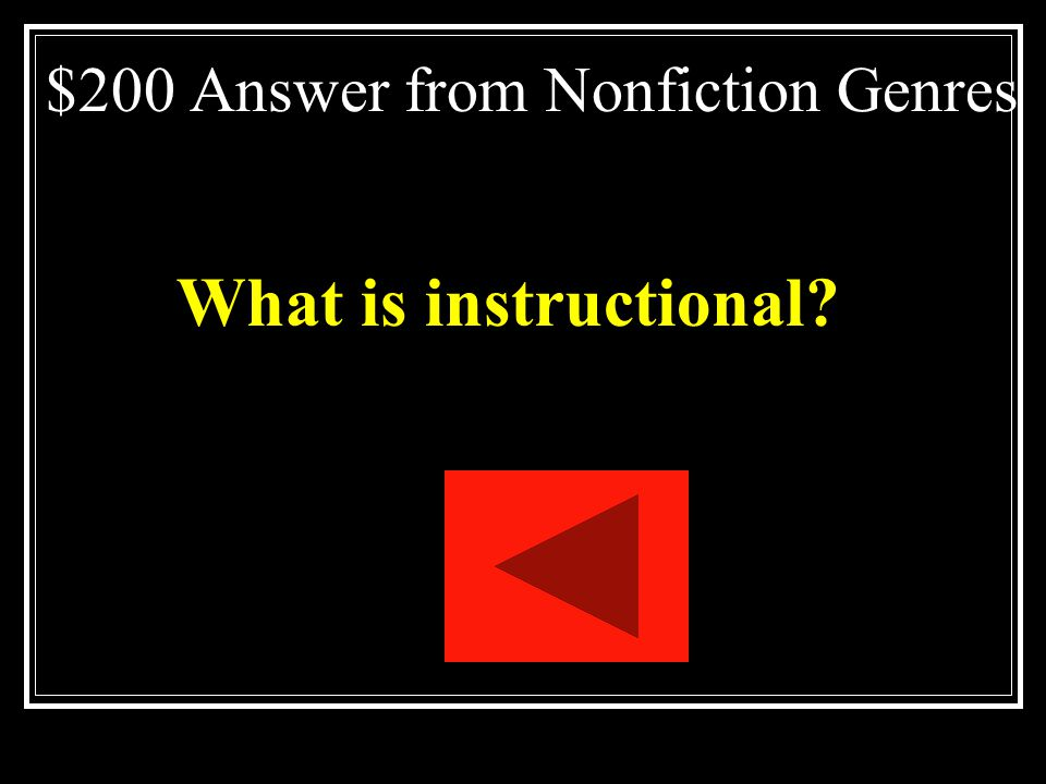 $200 Answer from Nonfiction Genres