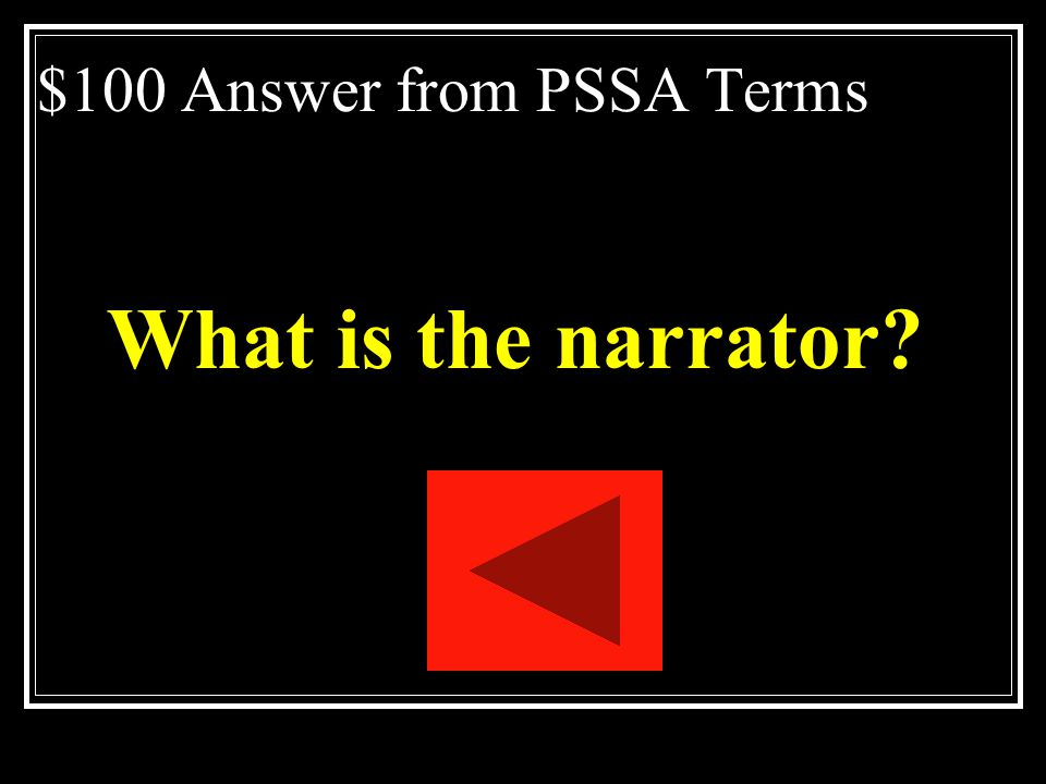 $100 Answer from PSSA Terms