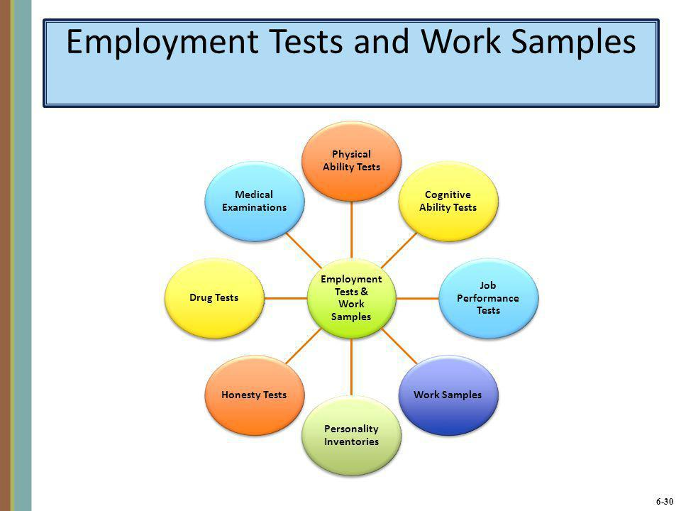 Employment Tests and Work Samples