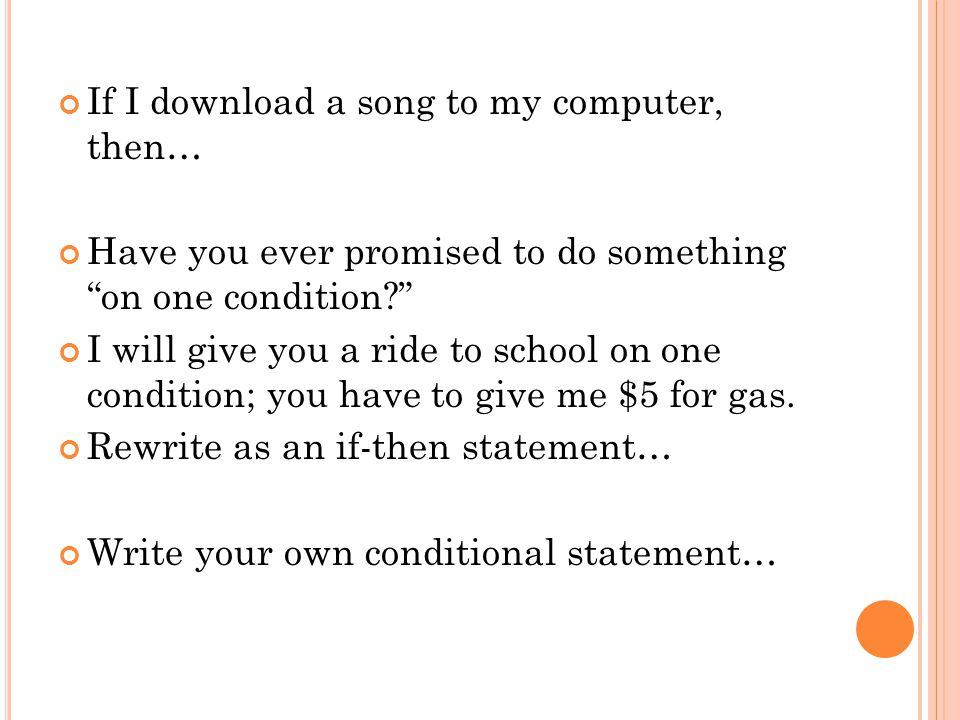 If I download a song to my computer, then…