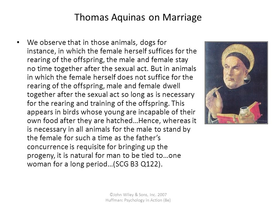 Thomas Aquinas on Marriage