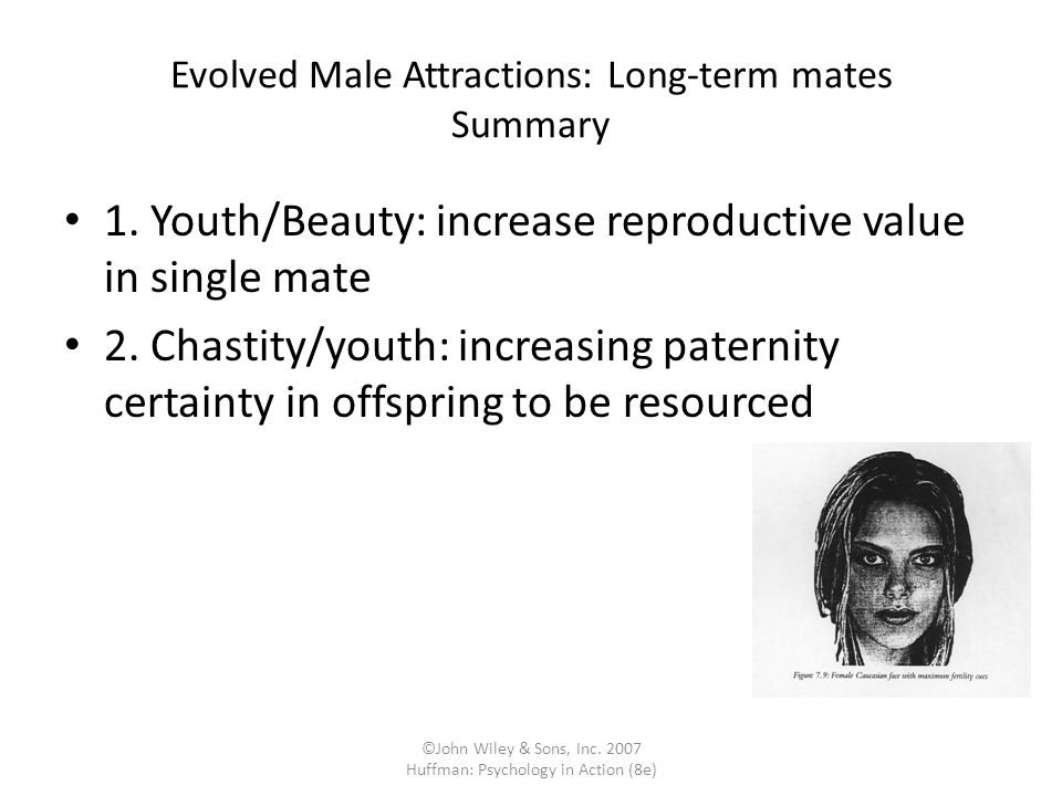 Evolved Male Attractions: Long-term mates Summary