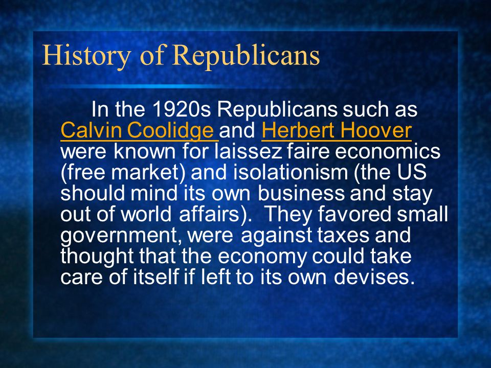 History of Republicans
