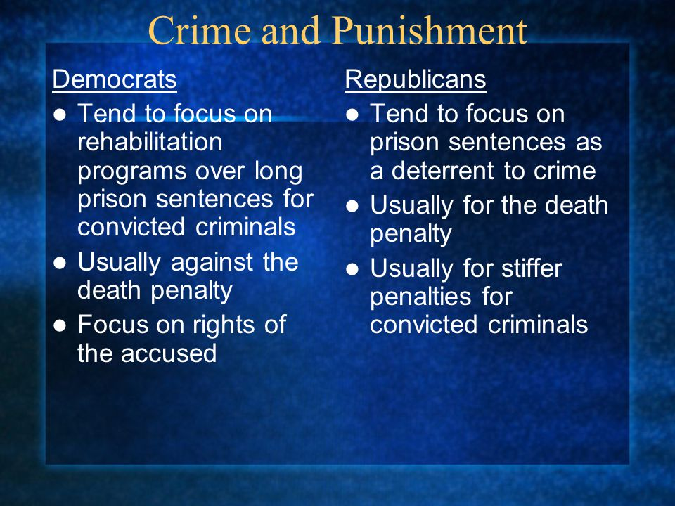 Crime and Punishment Democrats