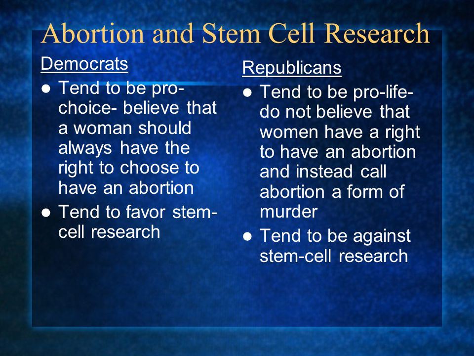 Abortion and Stem Cell Research