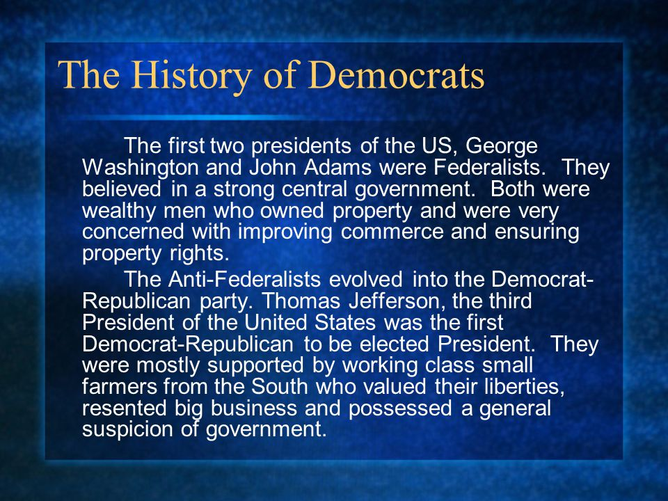 The History of Democrats