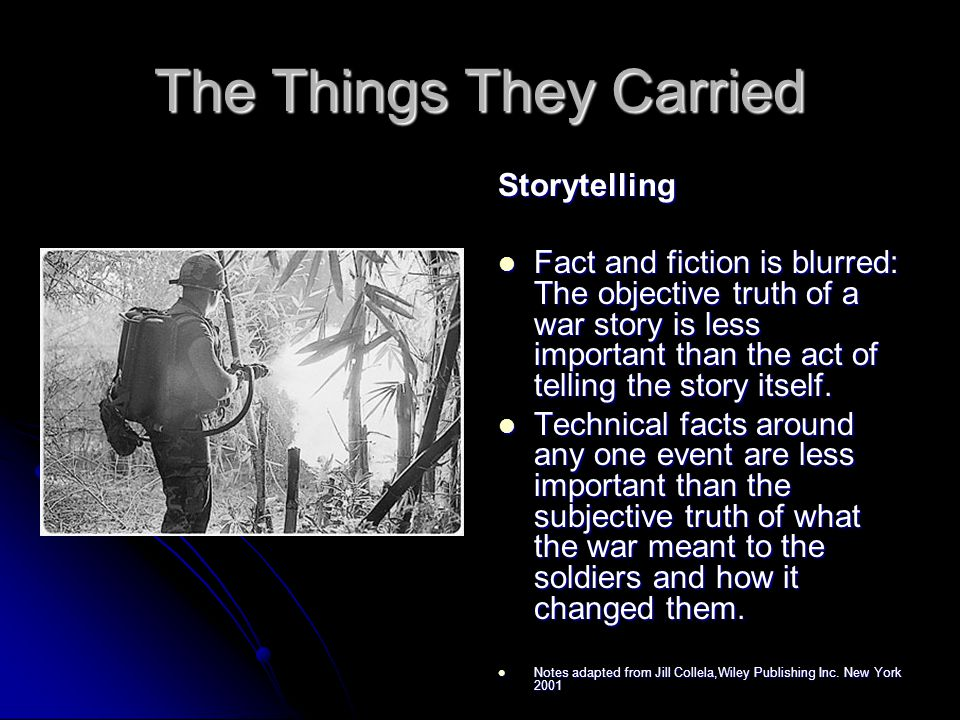 the things they carried storytelling