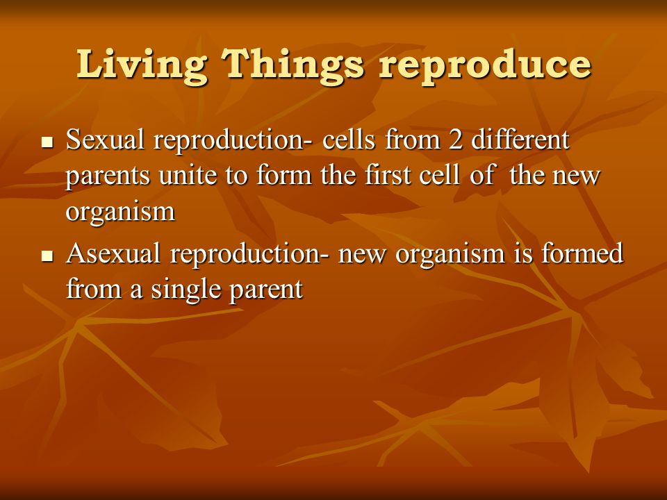 Living Things reproduce