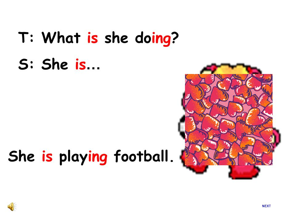 She is playing football.