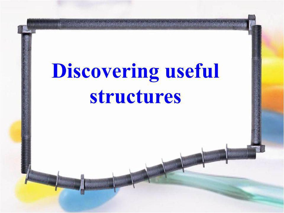 Discovering useful structures