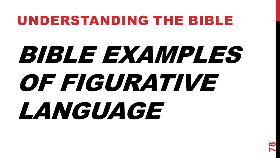 Bible Examples of Figurative Language