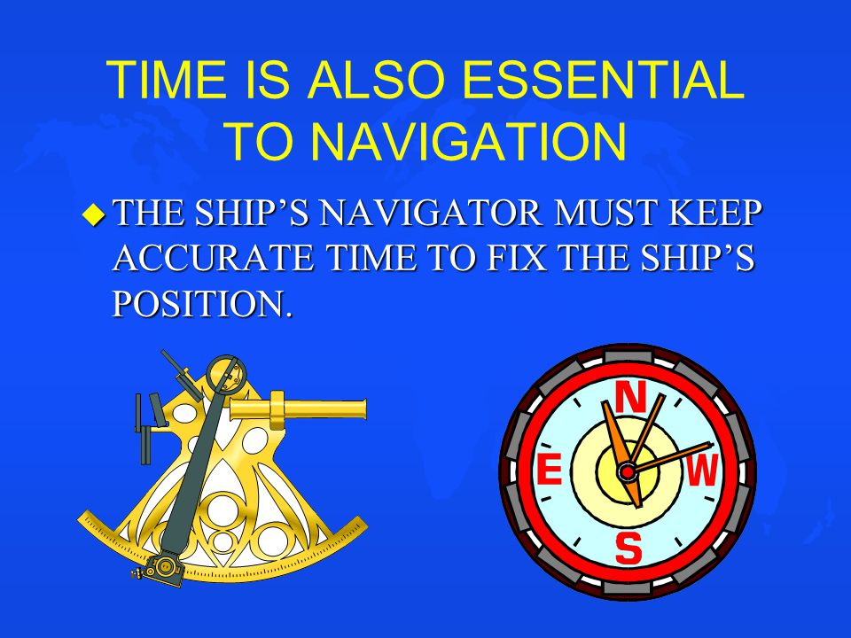 TIME IS ALSO ESSENTIAL TO NAVIGATION