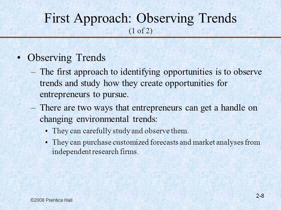 First Approach: Observing Trends (1 of 2)