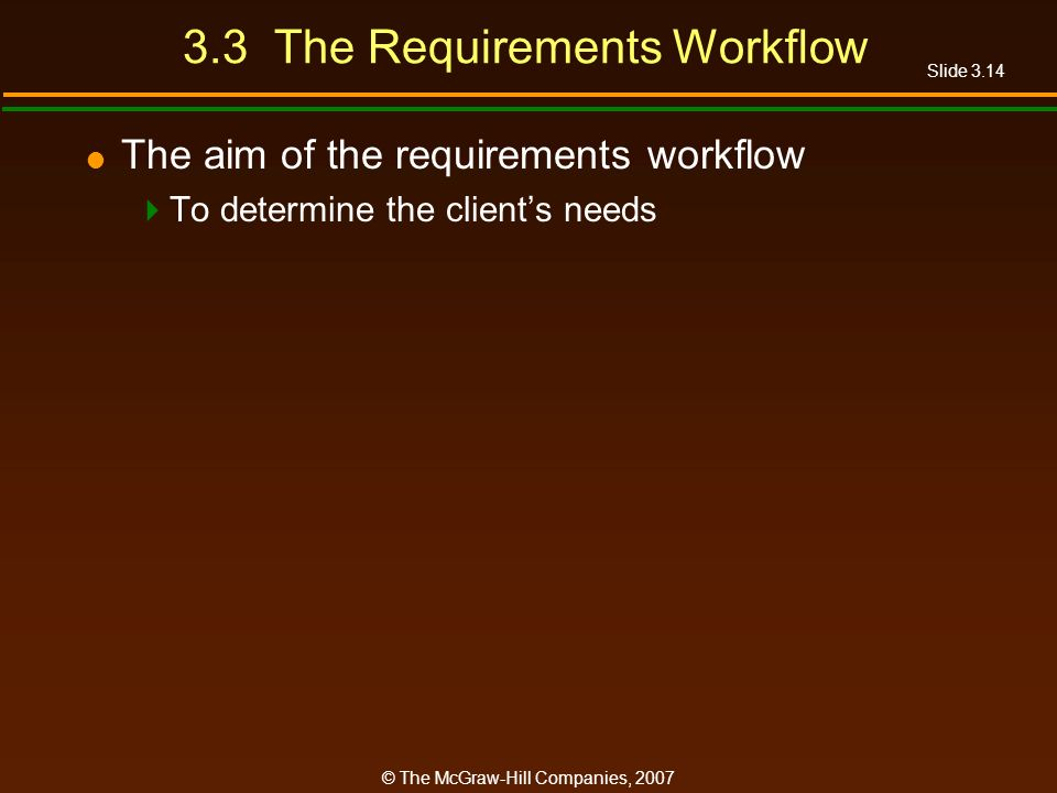 3.3 The Requirements Workflow