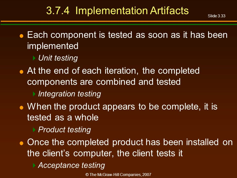 3.7.4 Implementation Artifacts