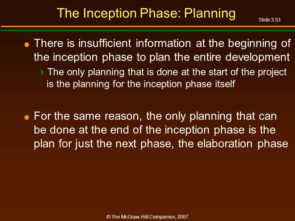 The Inception Phase: Planning