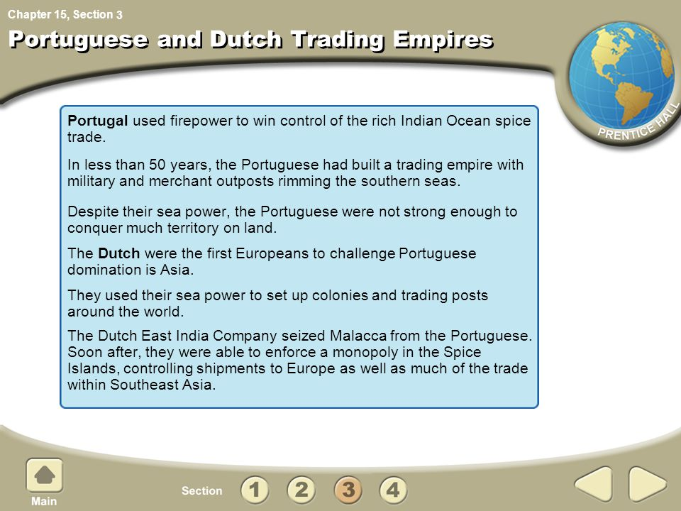 Portuguese and Dutch Trading Empires