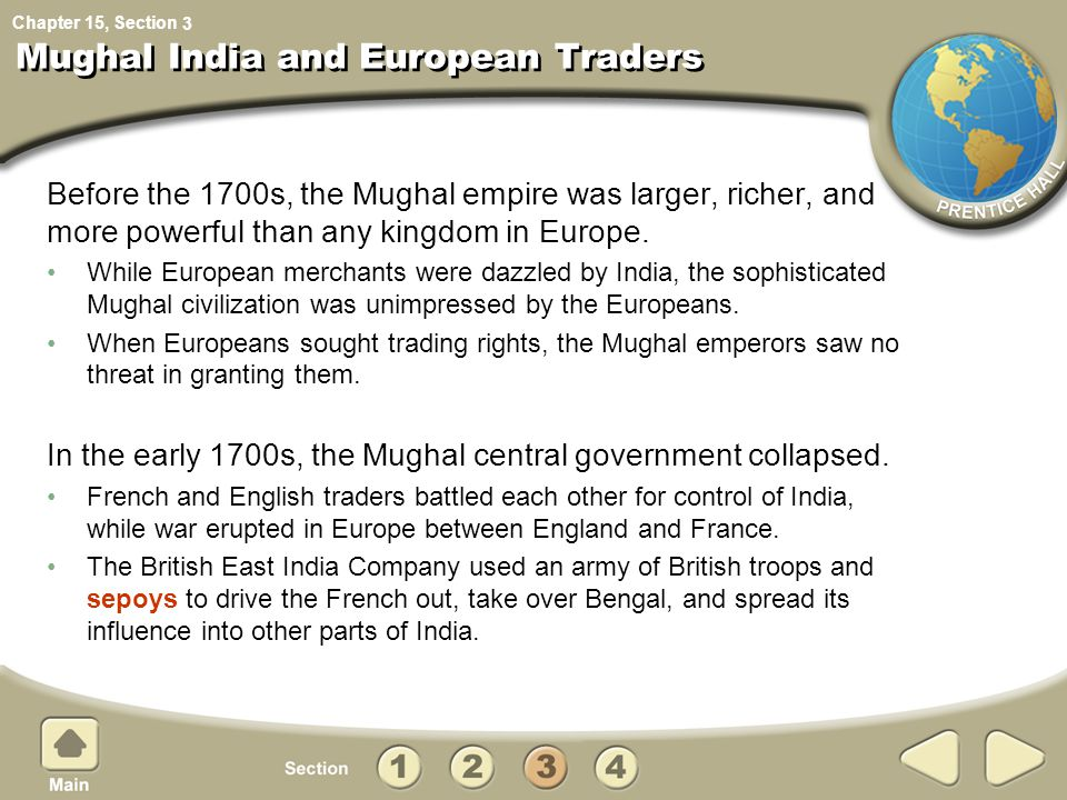 Mughal India and European Traders