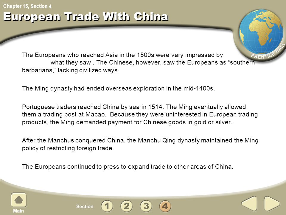 European Trade With China