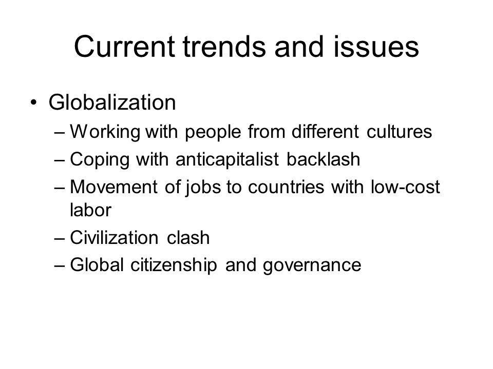 Current trends and issues