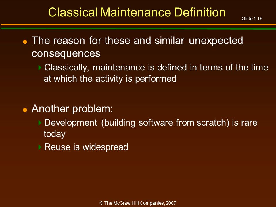 Classical Maintenance Definition