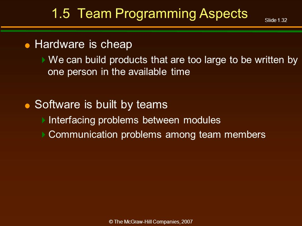 1.5 Team Programming Aspects