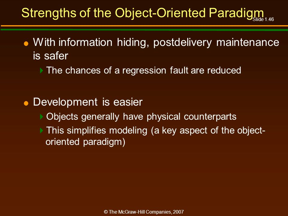 Strengths of the Object-Oriented Paradigm