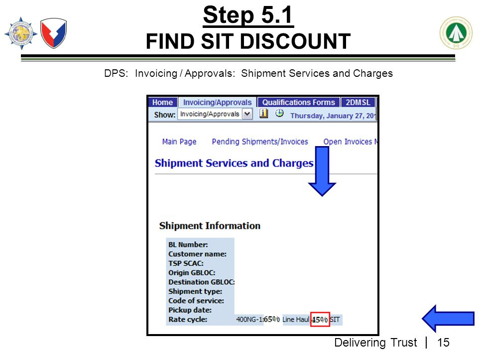DPS: Invoicing / Approvals: Shipment Services and Charges