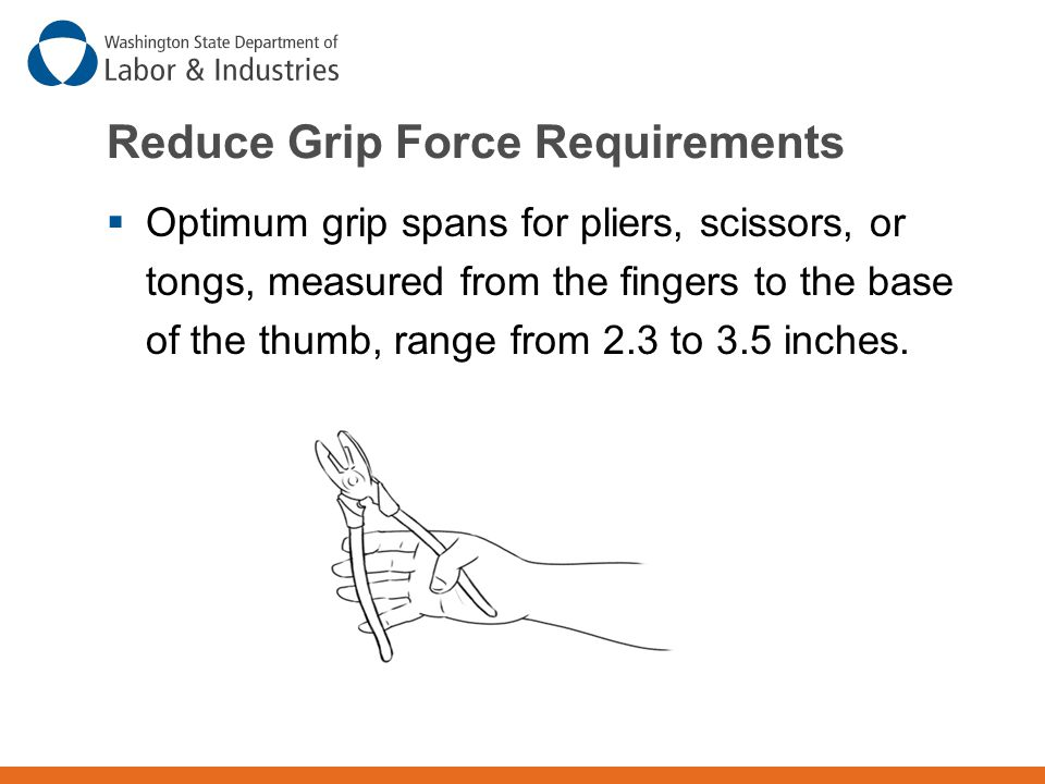 Reduce Grip Force Requirements