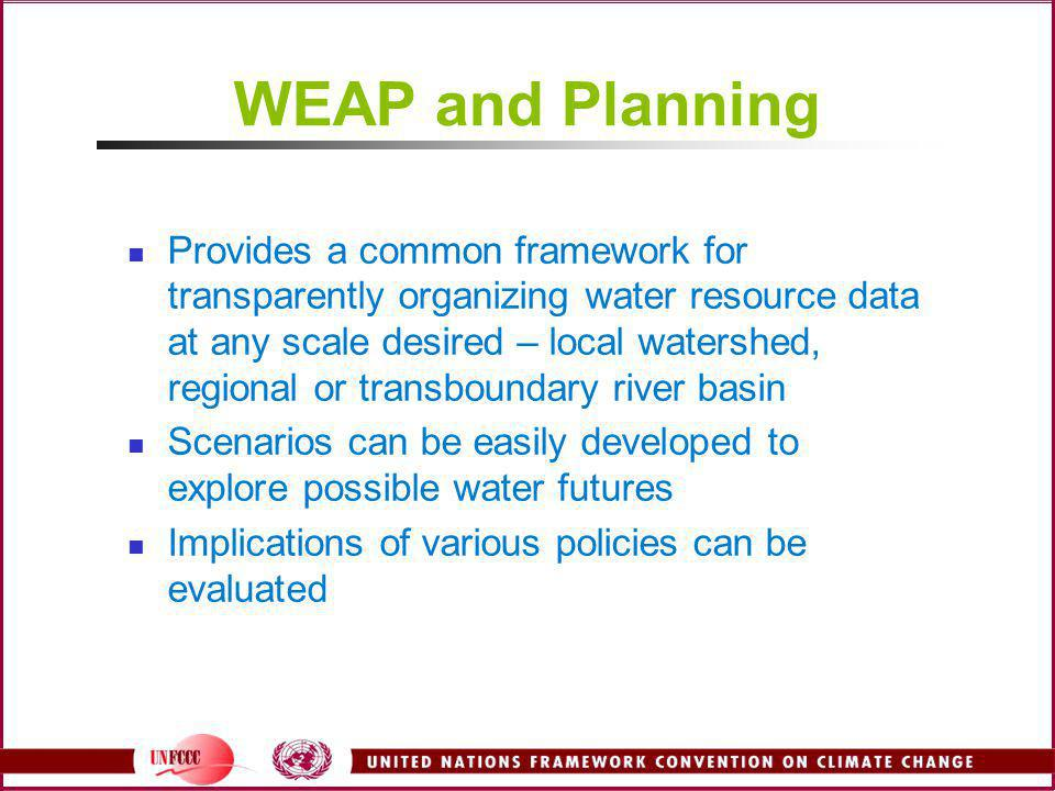 WEAP and Planning