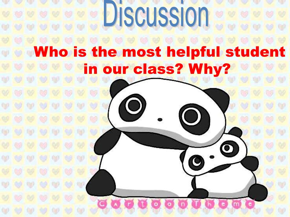 Who is the most helpful student