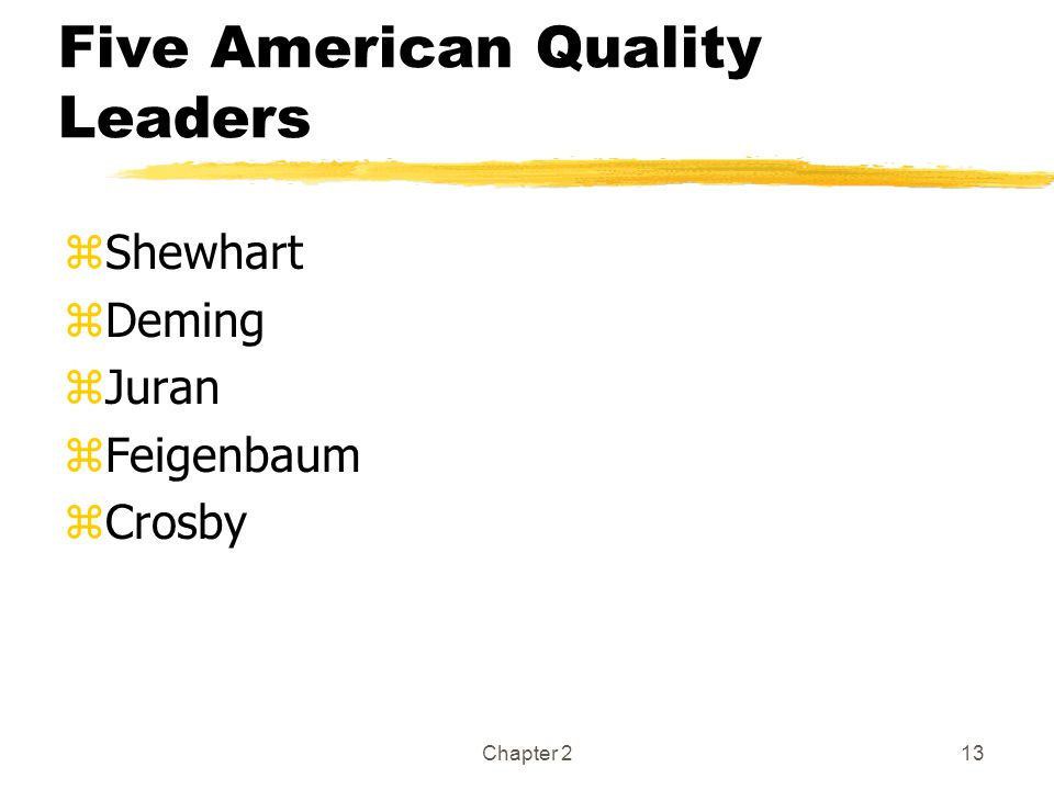 Five American Quality Leaders