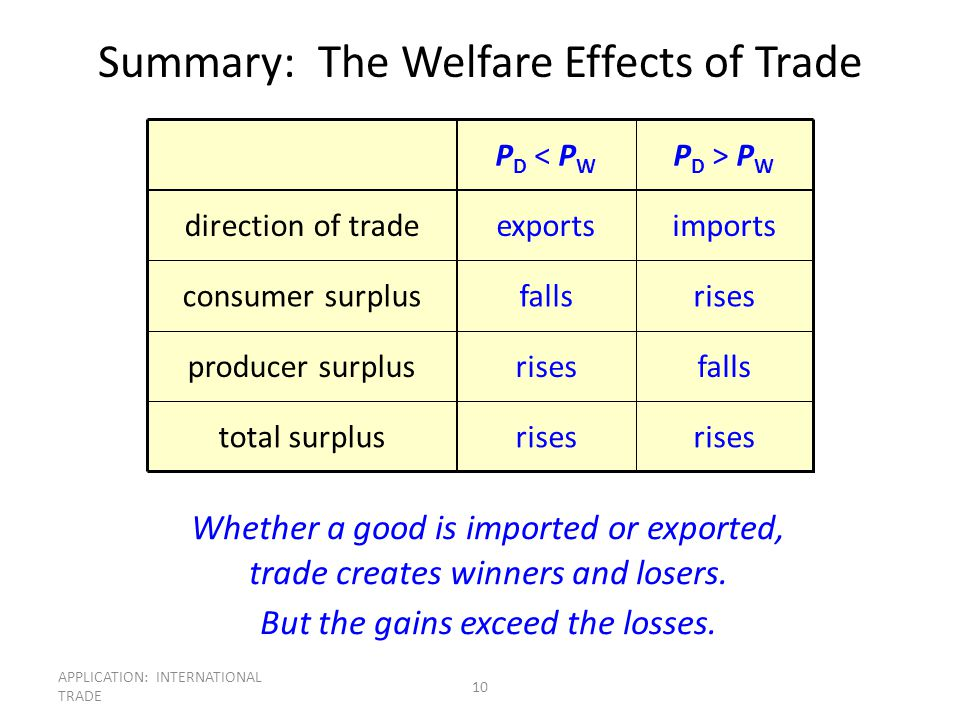 Summary: The Welfare Effects of Trade