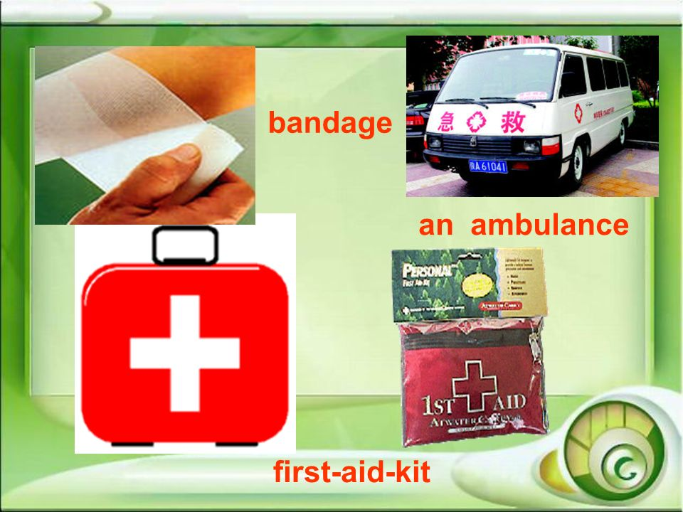 bandage an ambulance first-aid-kit