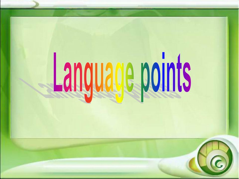 Language points